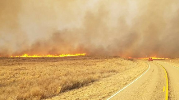 The Hoover Volunteer Fire Department shared this photo of wildfires on Monday. Three people died in the fires in the eastern part of the county