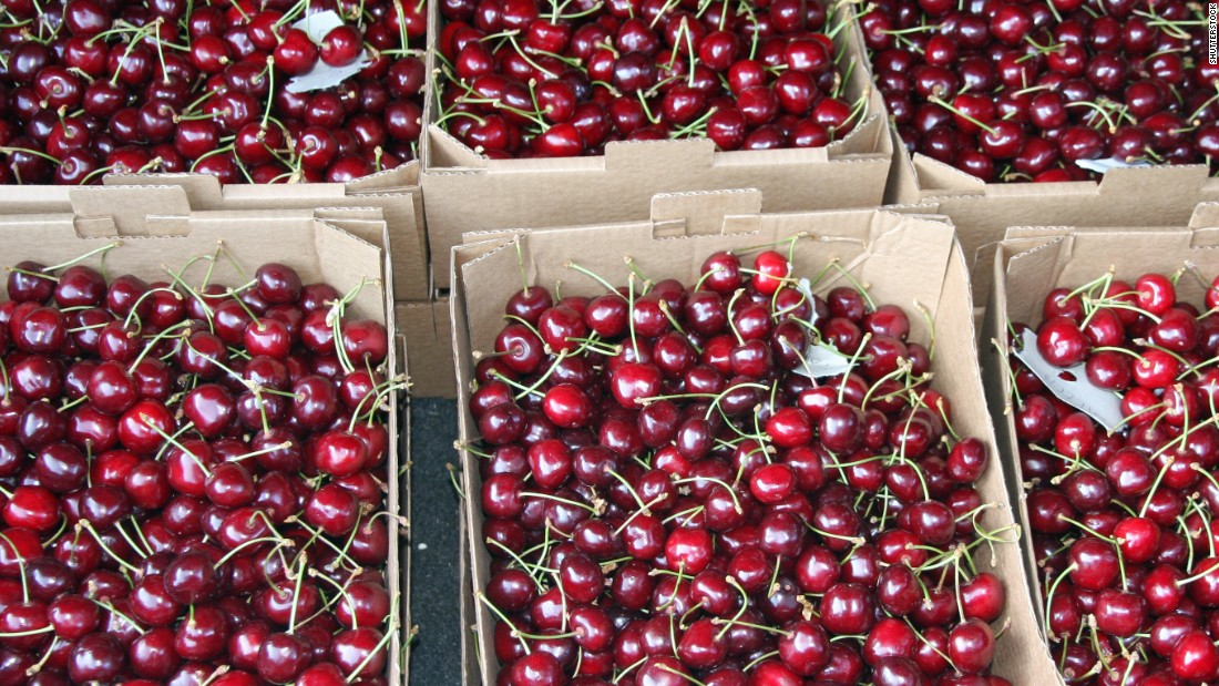 Cherries are eighth on the list this year.