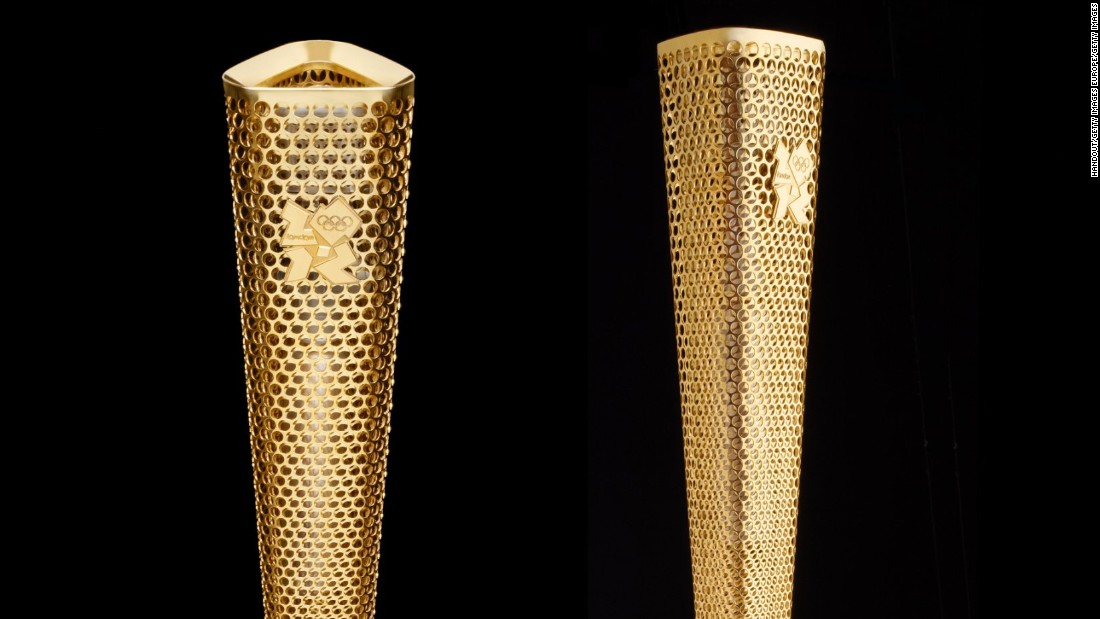 The 2012 London Olympic Games may have been mostly about the blood, sweat and tears of the athletes, but making waves in the world of design was Edward Barber and Jay Osgerby's flaming torch which won the prestigious Design of the Year award in 2012. Its trilateral form was developed to signify a pattern of trinities in the history of the Olympics, and the games' motto: Faster, Higher, Stronger. Imprinted by lasers, the torch's 8,000 circles create a transparency which gives onlookers a glimpse into the heart of the fire.