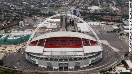 Wembley Stadium was re-opened in 2007 after it was completely rebuilt.