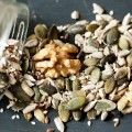 Nuts seeds stock