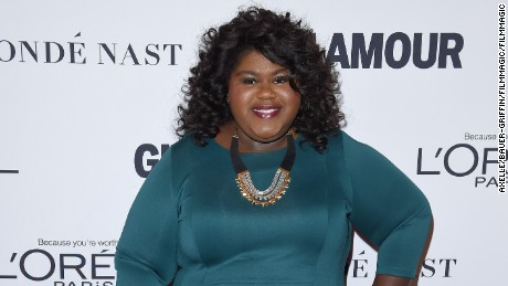 Actress Gabourey Sidibe arrives at Glamour Women of the Year 2016 at NeueHouse Hollywood on November 14, 2016 in Los Angeles, California.