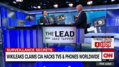 cia hack spying methods wikileaks michael hayden lead tapper intv_00005515