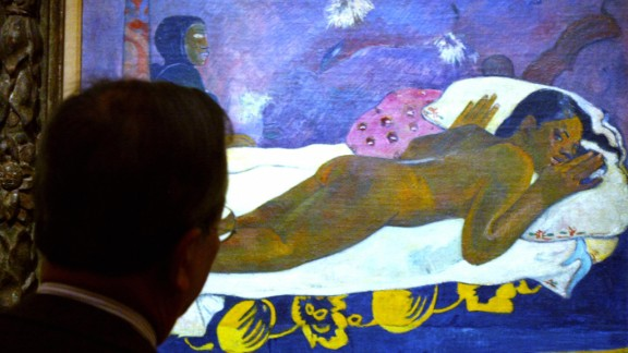 """Gauguin left his native France for Tahiti, where he produced a series of sensual paintings such as """"The Spirit of the Dead Watch."""""""