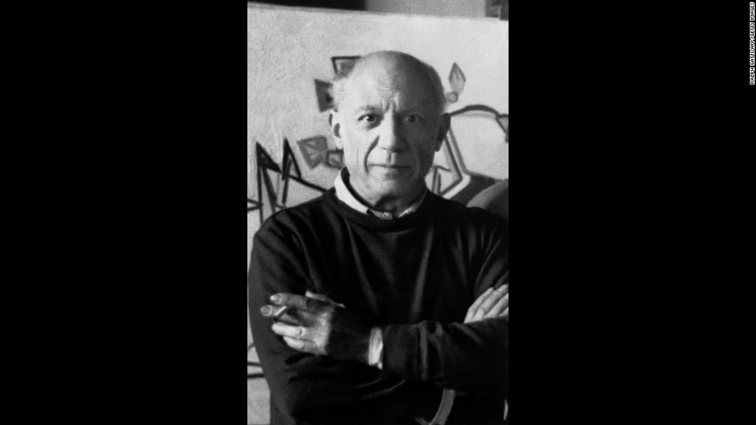 Legendary artist Pablo Picasso, pictured here in his atelier in Mougins in the 1960s, is said to have struggled with depression.