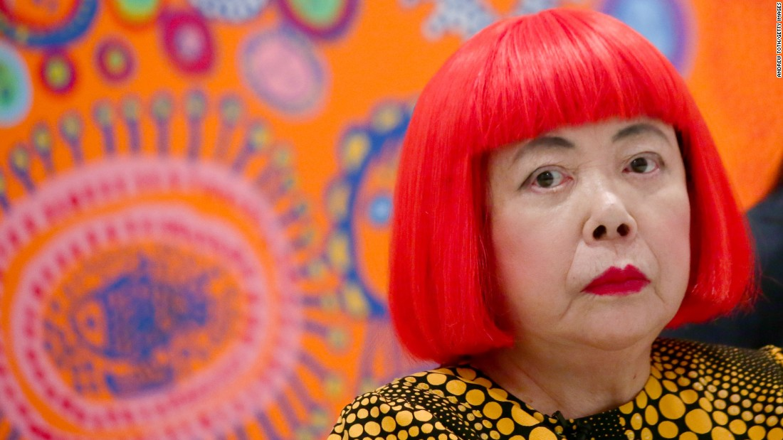 Japanese artist Yayoi Kusama voluntarily checked herself into a psychiatric institution in the 1970s, where she became a permanent resident.