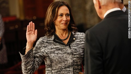 Senators try to quiet Harris, but she doesn't back down