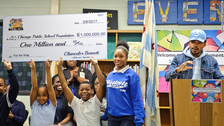 Chance the Rapper donates to Chicago schools