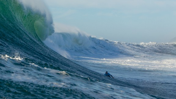 Bertish is also known as a big wave surfer who has competed all over the world.