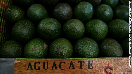 TIJUANA, MEXICO - JANUARY 27:  Avocados are displayed in a store at Mercado Hidalgo on January 27, 2017 in Tijuana, Mexico. U.S. President Donald Trump announced a proposal to impose a 20 percent tax on all imported goods from Mexico to pay for the border wall between the United States and Mexico. Mexican President Enrique Pena Nieto canceled a planned meeting with President Trump over who would pay for Trump's campaign promise to build a border wall.  (Photo by Justin Sullivan/Getty Images)