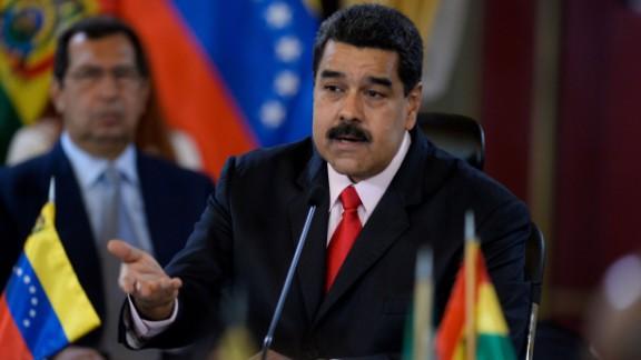 Venezuelan President Nicolas Maduro faces protests over shortages.