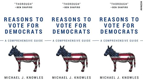 "Michael J. Knowles' self-published book ""Reasons To Vote For Democrats"" is the number 1 book on Amazon's best sellers list"