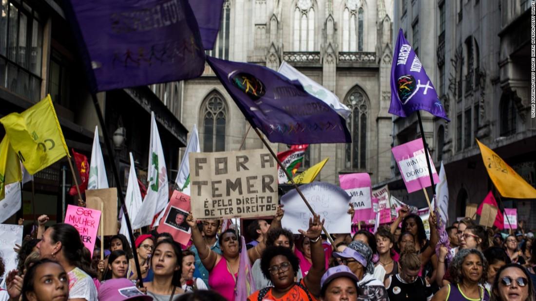 Brazilian president under fire over praise of women's supermarket skills