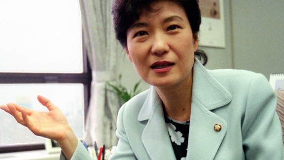 Park speaks during an interview in May 1999. She said she was persuaded to rejoin politics after seeing the effects of the Asian economic crisis in the late 1990s. She served as a lawmaker in the National Assembly from 1998 to 2012.