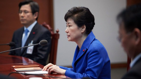 Park attends an emergency cabinet meeting in December after the National Assembly voted overwhelmingly for an impeachment motion.