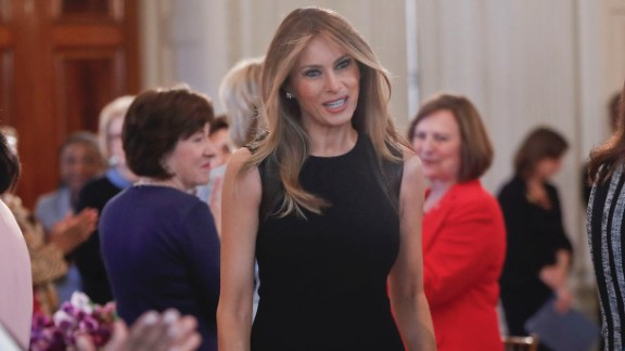 """Melania Trump, the first lady of the United States, hosts a White House luncheon for <a href=""""http://www.cnn.com/2017/03/08/world/gallery/international-womens-day-marches-2017/index.html"""" target=""""_blank"""">International Women's Day</a> on Wednesday, March 8."""
