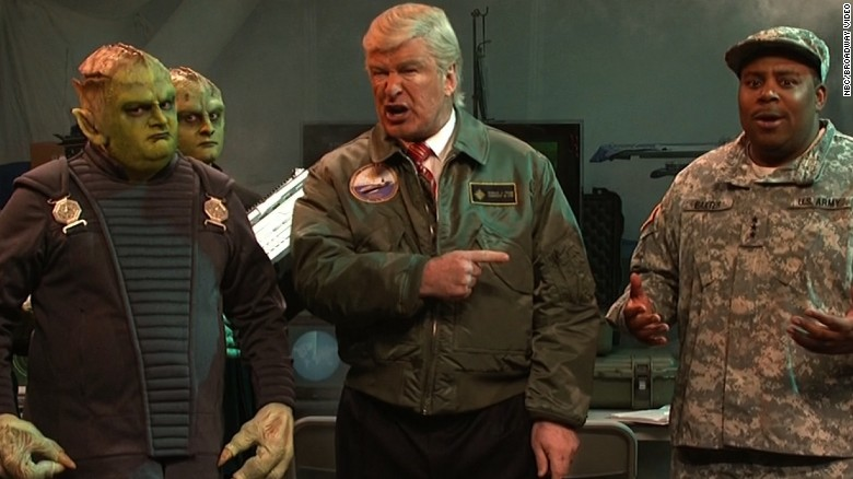 Trump confronts alien invaders on 'SNL'