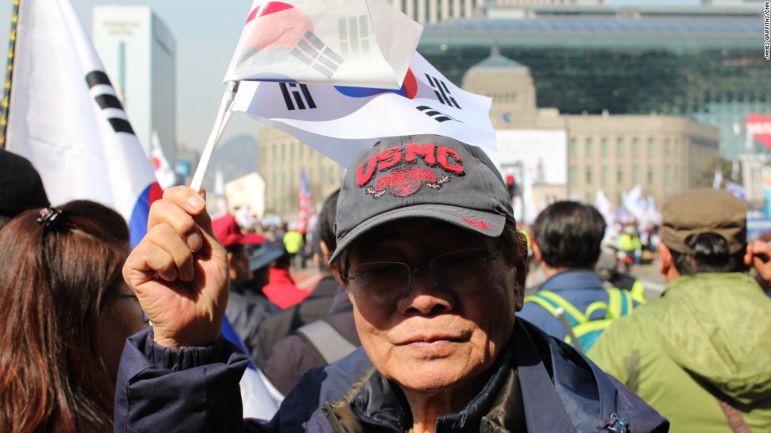 """Young people don't understand,"" said Song Bok-sung, 80, who was protesting Park's impeachment. ""We remember the (Korean War) and how bad it can get."""