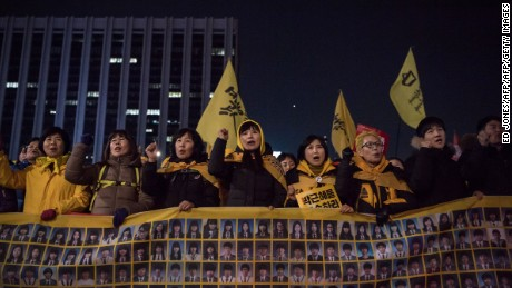 Relatives of victims of the 2014 Sewol ferry disaster were heavily involved in protests against South Korean President Park Geun-hye that resulted in her impeachment.