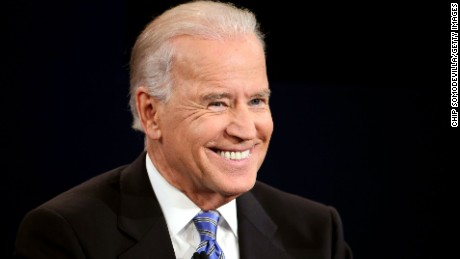 DANVILLE, KY - OCTOBER 11:  U.S. Vice President Joe Biden smiles during the vice presidential debate at Centre College October 11, 2012 in Danville, Kentucky.  This is the second of four debates during the presidential election season and the only debate between the vice presidential candidates before the closely-contested election November 6.  (Photo by Chip Somodevilla/Getty Images)
