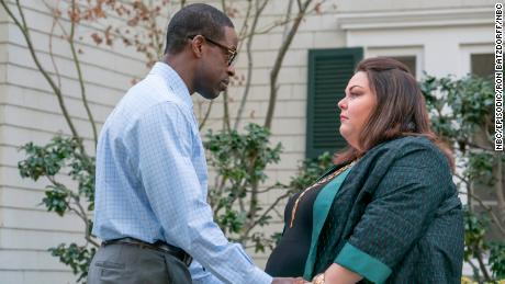 "Sterling K. Brown plays Randall and Chrissy Metz plays Kate in ""This is Us."""