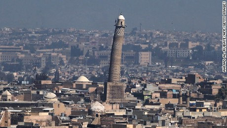 Mosul's Great Mosque of al-Nuri blown up