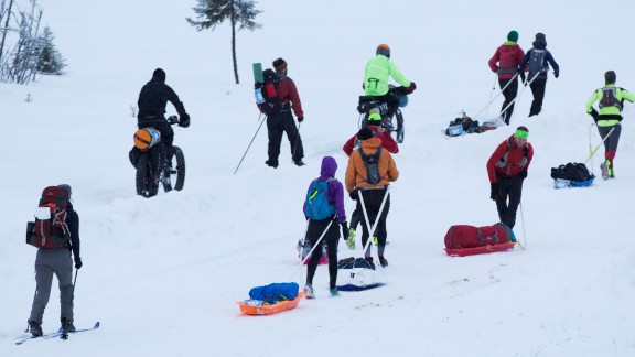 There is no cap on the number of racers; Alaska has room for everyone. This year, 101 bikers, 31 runners and 15 skiers registered.