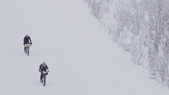 Specialized fat-tire bikes are built for such conditions. People can complete the beautiful but chilling course on a bike in anywhere from eight to 40 hours.