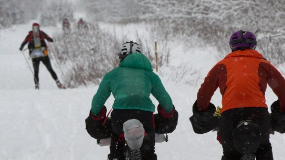 Conditions vary so much from year to year, athletes are allowed to change their mode of transportation up to the last moment.