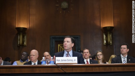 Federal Bureau of Investigation Director James Comey testifies during a hearing of the Senate Judiciary Committee in the Dirksne Senate Office Building on Capitol Hill May 21, 2014 in Washington, DC. Comey appeared before the oversight hearing for the first time as director. AFP PHOTO/Mandel NGAN        (Photo credit should read MANDEL NGAN/AFP/Getty Images)
