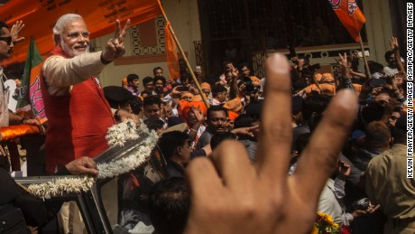 ABVP is affiliated with Narendra Modi's ruling Bharatiya Janata Party (BJP).