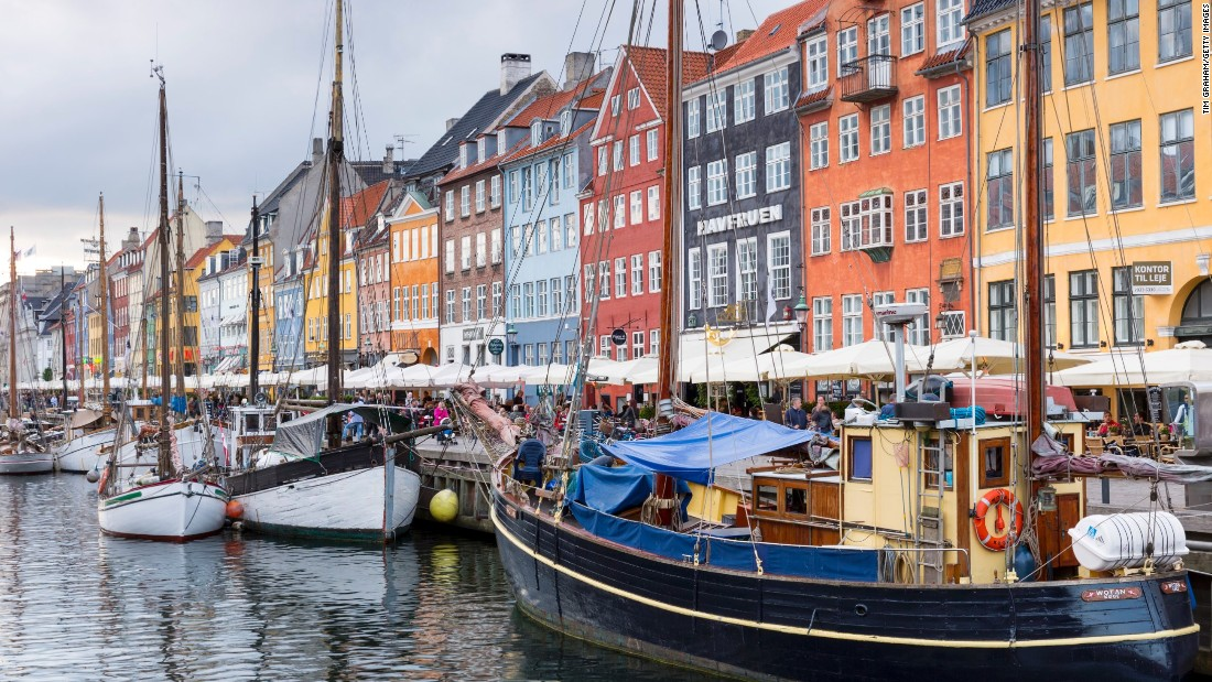 <strong>2. Denmark -- </strong>This country of very happy people has won the title of world's happiest country three of the five times the report has been issued. These sailing boats at Nyhavn, a 17th Century waterfront canal and entertainment district in Copenhagen, are enough to make any visitor happy.