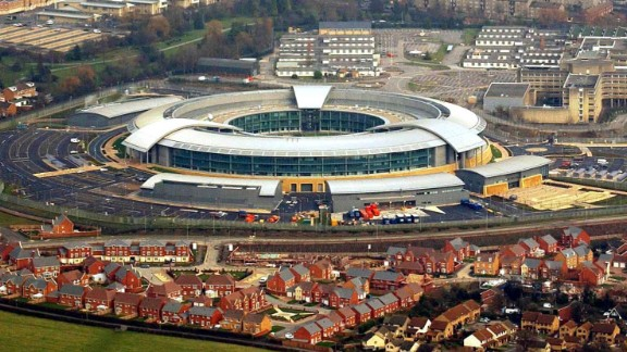 Government Communications Headquarters (GCHQ) in Cheltenham, England.