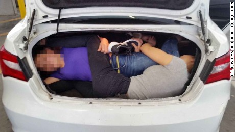 Man Arrested at Border for Allegedly Smuggling 4 Undocumented Chinese Nationals in Car Trunk