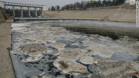 Shaying River in Henan Province, a branch of the seriously polluted Huaihe River.