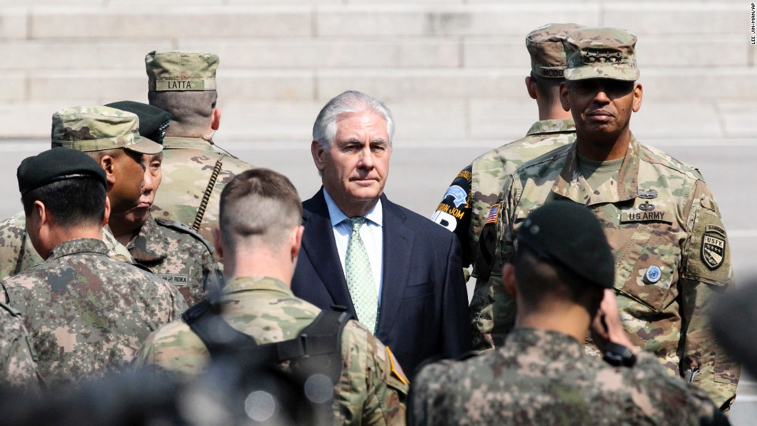 The US would consider military action against North Korea if it was provoked, Secretary of State Rex Tillerson said Friday.