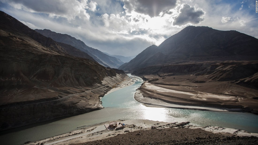 The Indus River at its confluence with the Zanskar River in India. The river is a growing source of discord between India and Pakistan, made worse by the ongoing dispute over Kashmir.