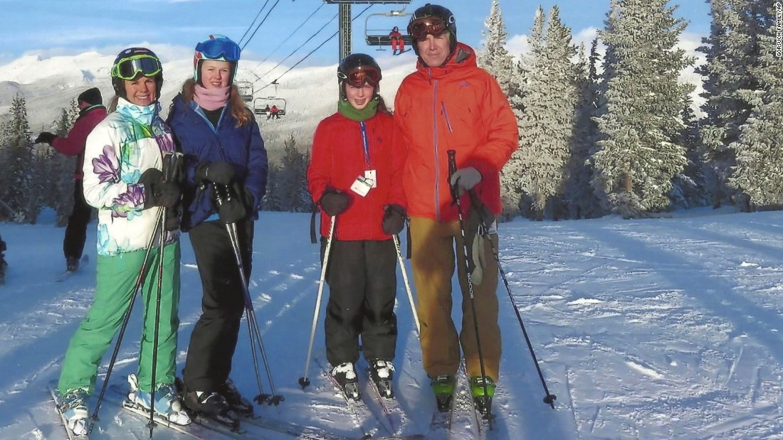 Gorsuch and his family on the ski slopes. Gorsuch is an avid skier, fly fisherman and hiker.