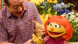 Julia is a Muppet with autism