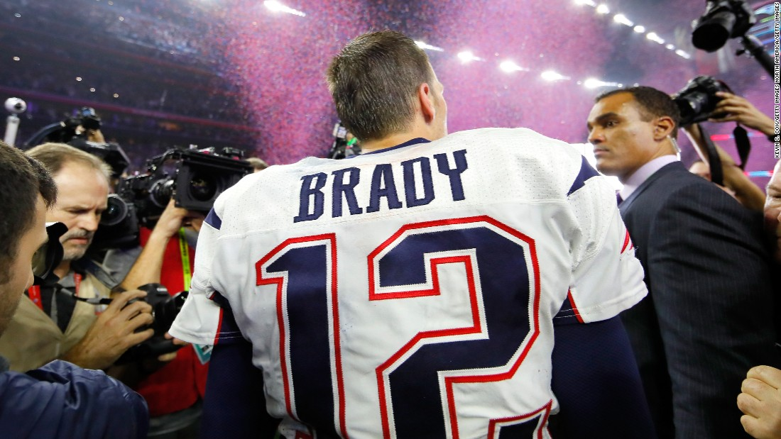 big sale 5b551 c47bb NFL says this video helped find Brady's jersey
