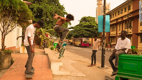 Lagos boasts of an estimated population between 17 and 21 million, has no skate parks, few pavements and heavily congested roads. But WAFFLESNCREAM, a group of avid young skaters are taking to the streets to change this perception. Nigerian- American photographer and filmmaker, Amarachi Nwosu has documented them.