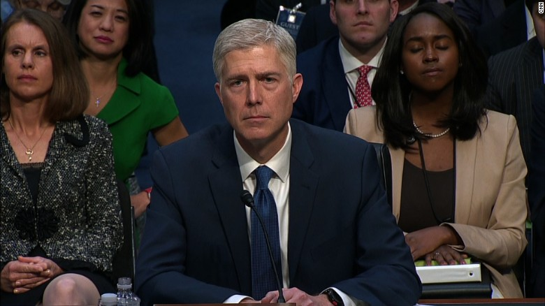 Gorsuch's entire opening statement at hearing