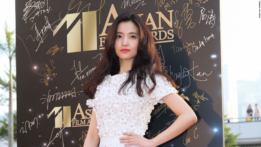 "Korean actress Tae-ri Kim won the award for Best Newcomer for her role in the South Korean lesbian thriller ""The Handmaiden."""
