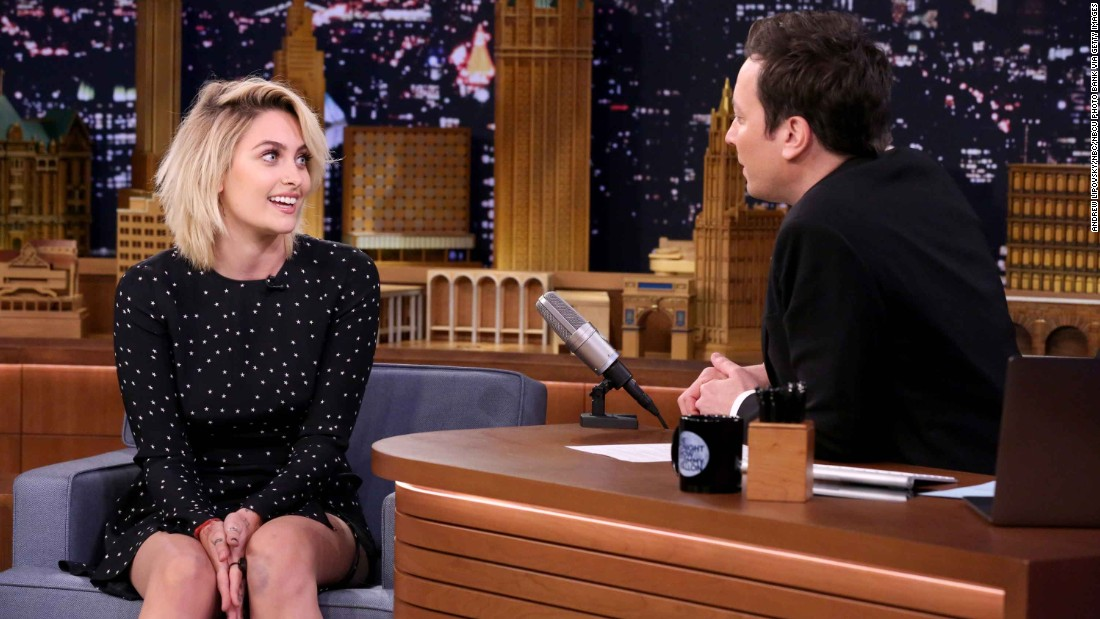 "Michael Jackson's daughter, Paris Jackson, broke out as a model and actress in 2017. She gave her first late night interview to ""Tonight Show"" host Jimmy Fallon in March."