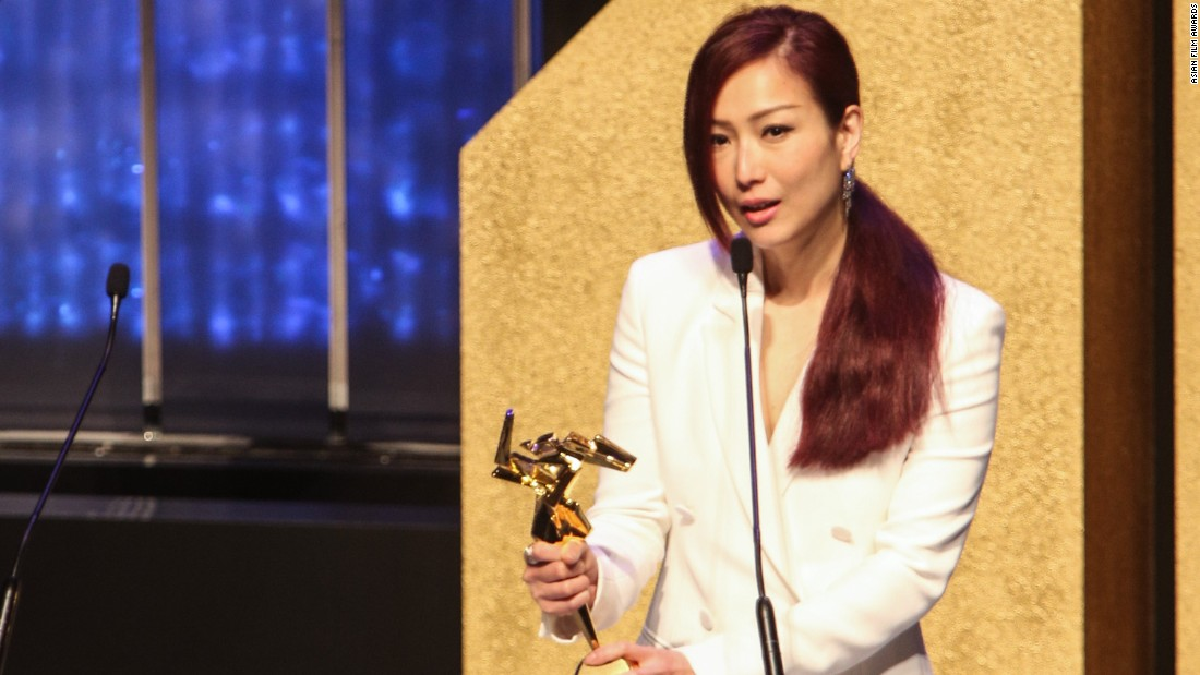 Hong Kong actress-singer Sammi Cheng won the Excellence in Asian Cinema Award.