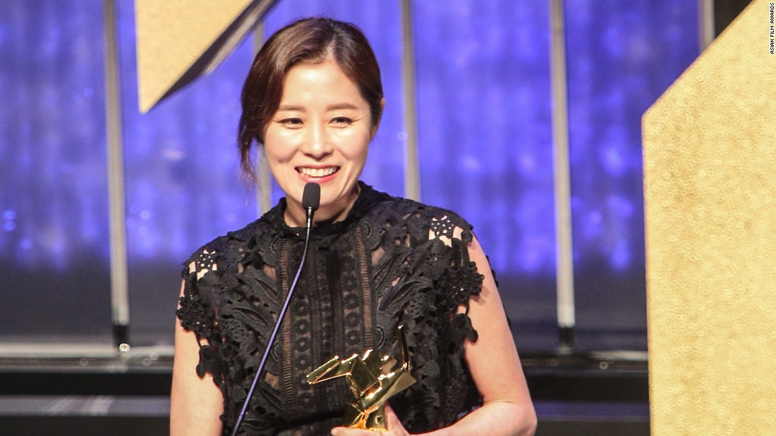 "South Korean actress Moon So-ri won for Best Supporting Actress for ""The Handmaiden."""