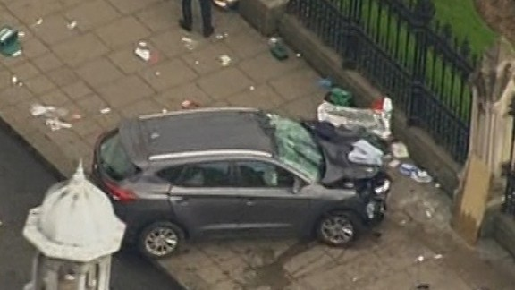 An automobile supposedly involved in attack near Britain's Parliament