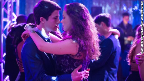 Dylan Minnette, Katherine Langford in Netflix's '13 Reasons Why'