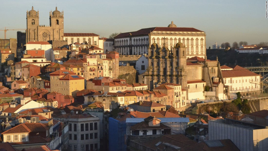 "<strong>Porto, Portugal: </strong>A view over Porto from a lookout point in Vitoria. ""Miradouros"" is the Portuguese word for lookout spots offering impressive views."