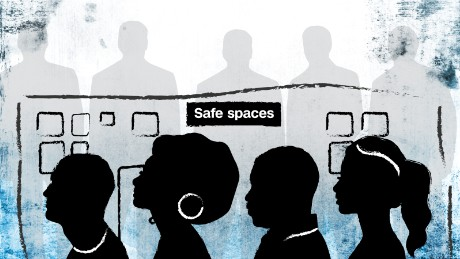 """Safe spaces"" are places where women, the LGBTQ community and racial and ethnic minorities can congregate with like-minded people without having to defend their own beliefs."